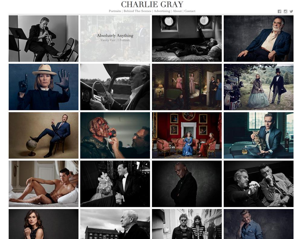 Charlie Gray Portfolio Website