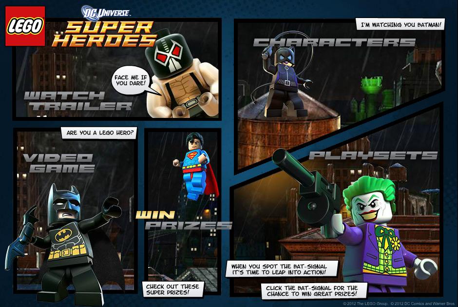Lego Super Heros Microsite