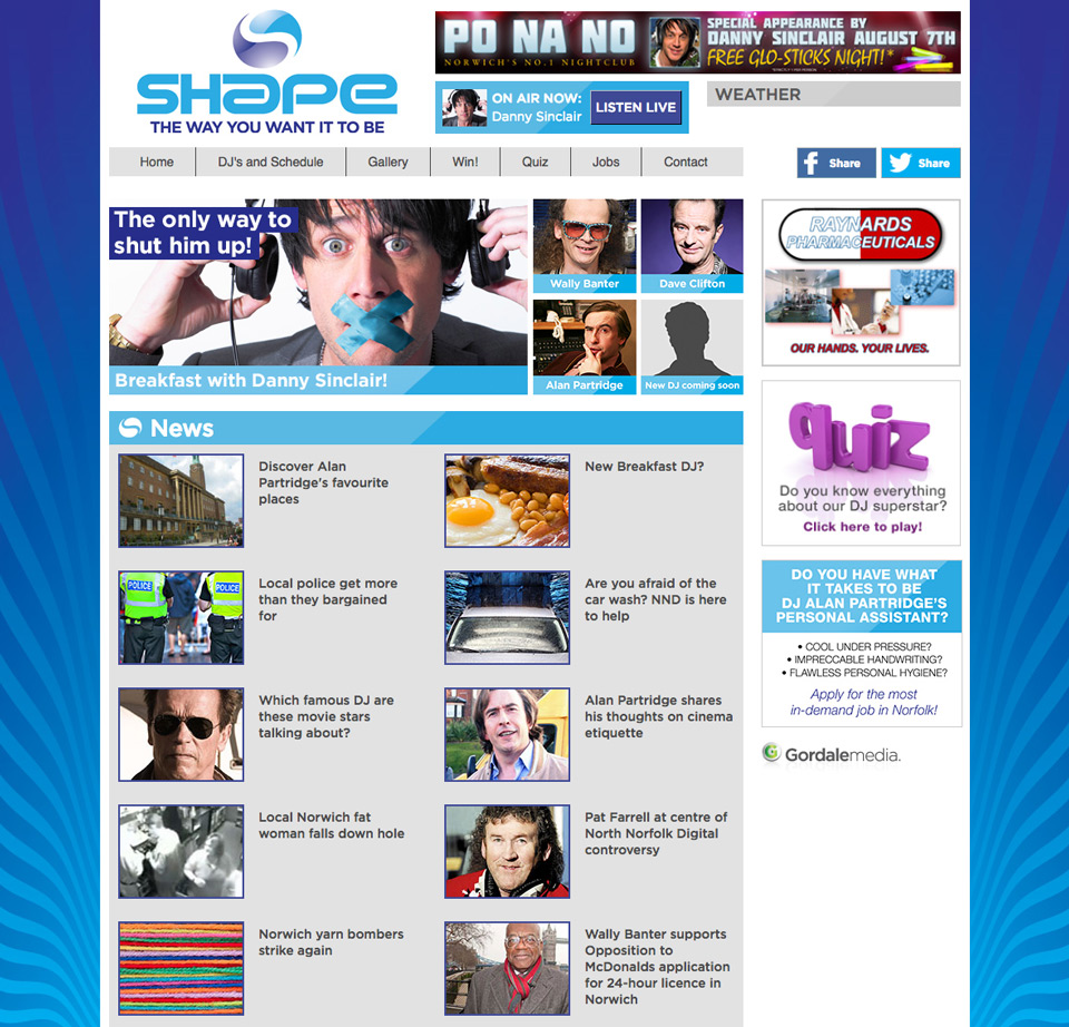 Film Website - Shape