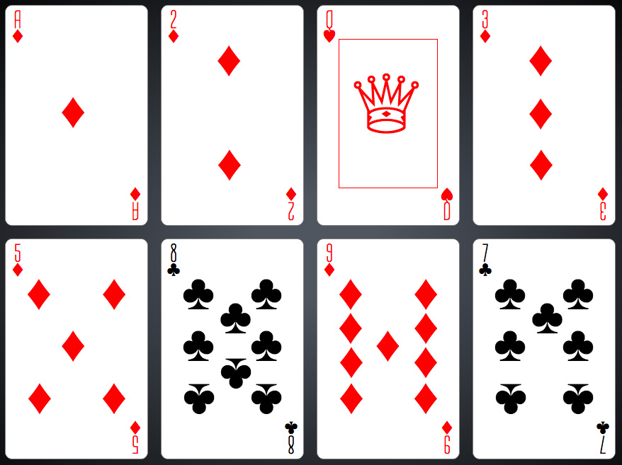 Deck of CSS Playing Cards with Shuffling Thumbnail